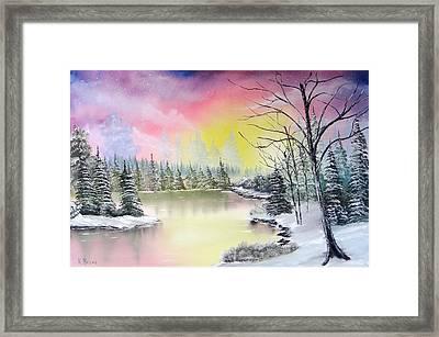 Alaskan Sunset Framed Print by Kevin  Brown