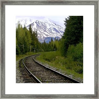 Alaskan Tracks Framed Print by Art Block Collections