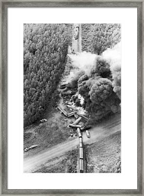 Alaskan Train Wreck Framed Print by Underwood Archives