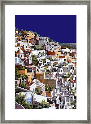 alba a Santorini Framed Print by Guido Borelli