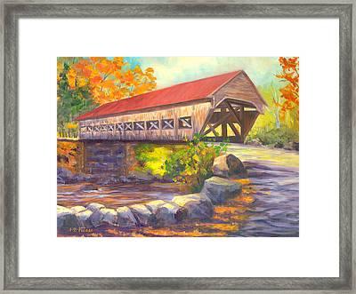 Albany Covered Bridge #49 Framed Print by Elaine Farmer