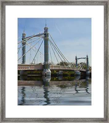 Albert Bridge London Thames  Framed Print by David French