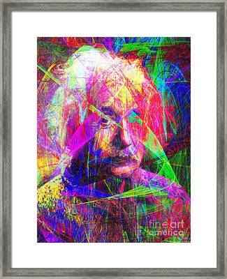 Albert Einstein 20130615 Framed Print by Wingsdomain Art and Photography