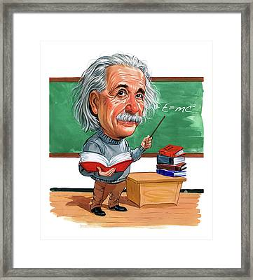 Albert Einstein Framed Print by Art