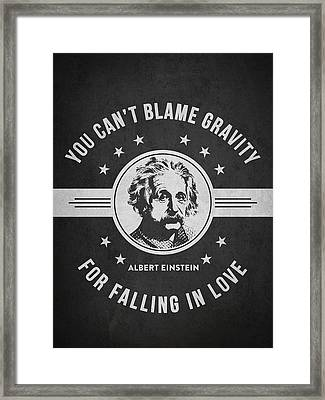 Albert Einstein - Dark Framed Print by Aged Pixel