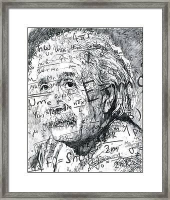 Albert Einstein Framed Print by Kyle Willis