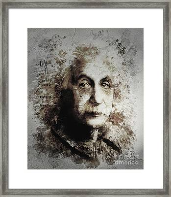 Albert Einstein Framed Print by Shanina Conway