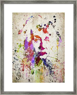 Albert In Color Framed Print by Aged Pixel