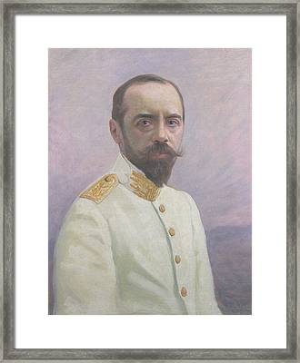 Albert Sarraut 1872-1962 Oil On Canvas Framed Print by Mascre Souville