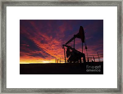 Alberta Canada Oil Country Framed Print by Bob Christopher