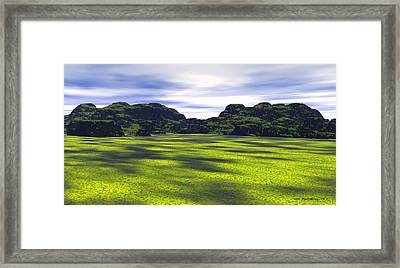 Alberta Foothills Framed Print by Wayne Bonney