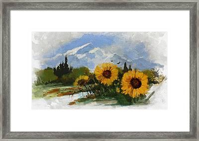 Alberta Landscape 001 Framed Print by Mahnoor Shah