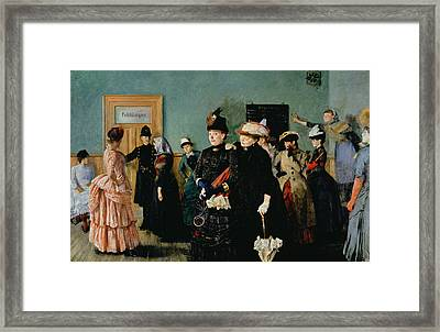 Albertine At The Police Doctors Waiting Room, 1886-87 Framed Print by Christian Krohg