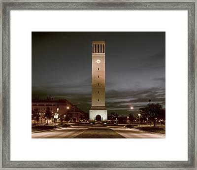 Albritton Bell Tower Framed Print by Joan Carroll