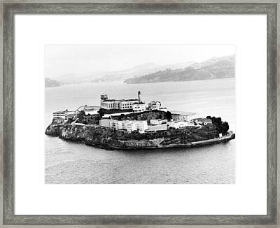 Alcatraz All Alone Framed Print by Retro Images Archive
