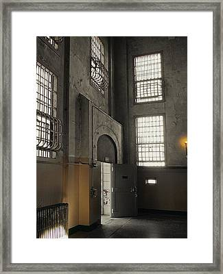 Alcatraz Doorway To Freedom Framed Print by Daniel Hagerman