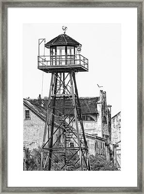 Alcatraz Guard Lookout Tower Framed Print by Erik Brede