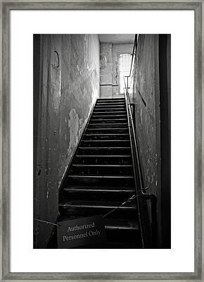 Alcatraz Hospital Stairs Framed Print by RicardMN Photography