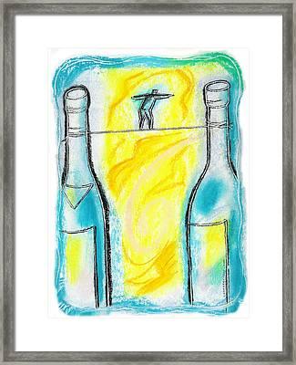 Alcoholism Framed Print by Leon Zernitsky