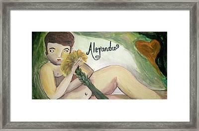 Alejandro Framed Print by Vickie Meza