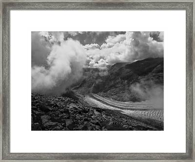 The Great Aletsch Glacier .. Switzerland Framed Print by Connie Handscomb