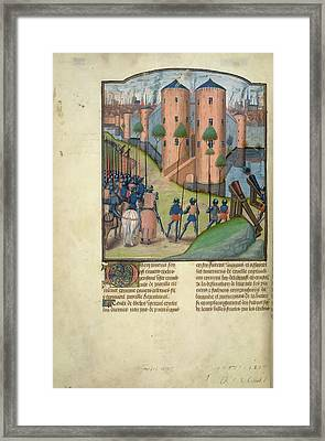 Alexander Before Thebes Framed Print by British Library