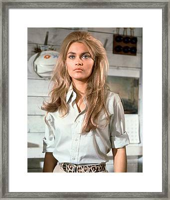 Alexandra Bastedo In The Champions Framed Print by Silver Screen