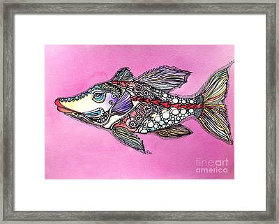 Alexandria The Fish Framed Print by Iya Carson