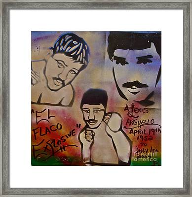 Alexis Arguello Framed Print by Tony B Conscious