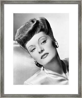 Alexis Smith, Ca. 1940 Framed Print by Everett