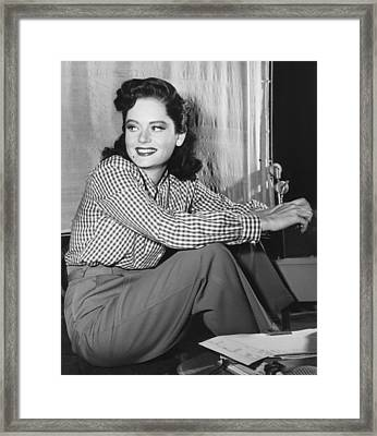 Alexis Smith, Ca. Mid-1940s Framed Print by Everett