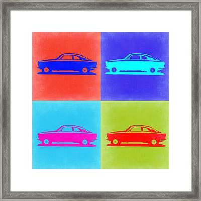 Alfa Romeo Gtv Pop Art 2 Framed Print by Naxart Studio