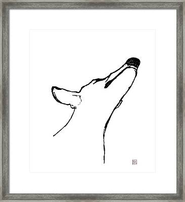 Alfie Sketch Framed Print by Richard Williamson