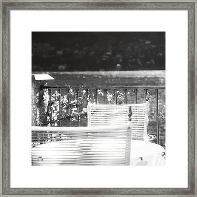 Alfresco Dining Mono Framed Print by Kate McKenna