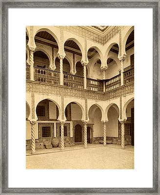 Algiers Court Moorish Palace Archbishop, Neurdein Brothers Framed Print by Litz Collection