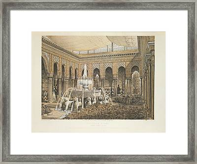 Alhambra Court Framed Print by British Library