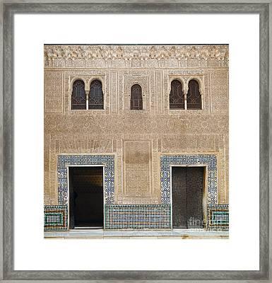 Alhambra Court Granada Framed Print by Rudi Prott