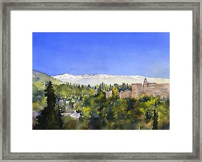 Alhambra Granada Framed Print by Margaret Merry