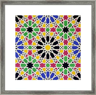 Alhambra Mosaic Framed Print by James Cavanagh Murphy