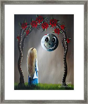Alice In Wonderland Original Artwork - Alice And The Beautiful Nightmare Framed Print by Shawna Erback