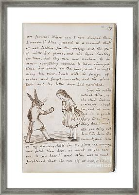 Alice And The White Rabbit Framed Print by British Library