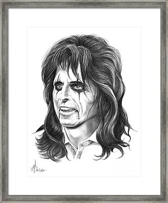 Alice Cooper Framed Print by Murphy Elliott