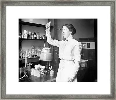 Alice Evans Framed Print by Library Of Congress