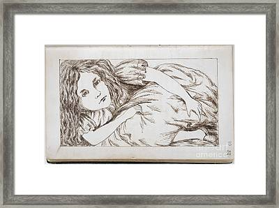 Alice In White Rabbit's House Framed Print by British Library
