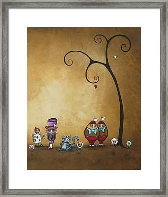 Alice In Wonderland Art - Encore - II Framed Print by Charlene Zatloukal