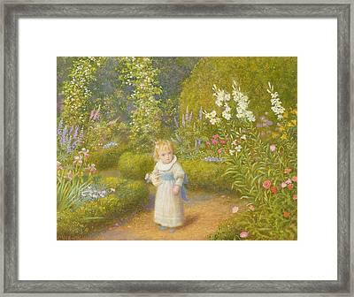 Alice In Wonderland Framed Print by Arthur Hughes
