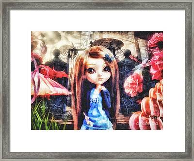 Alice In Wonderland Framed Print by Mo T
