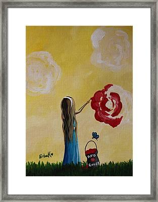 Alice In Wonderland Original Artwork Framed Print by Shawna Erback