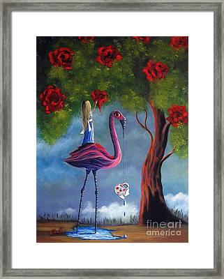 Alice In Wonderland Artwork  Framed Print by Shawna Erback