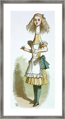 Alice With A Long Neck Framed Print by British Library